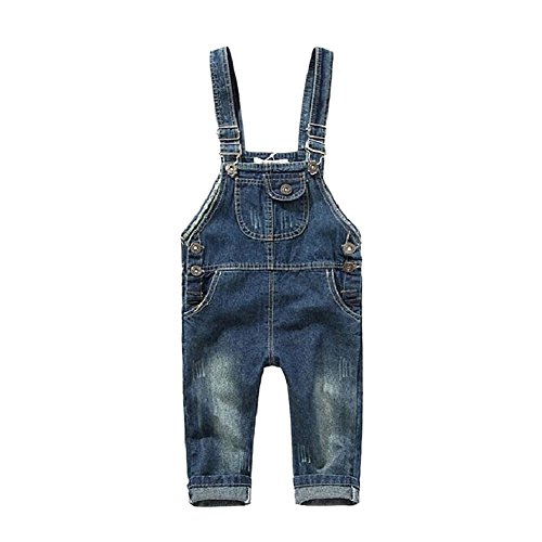 BOBORA Toddler Girls Kids Dungarees Denim Romper Jumpsuit for 2-8 Years old