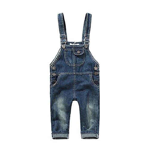 BOBORA Toddler Girls Kids Dungarees Denim Romper Jumpsuit for 2-8 Years old