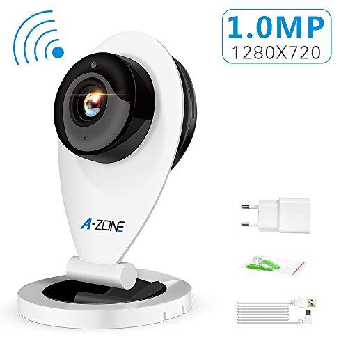 A-ZONE WIFI Netzwerkkamera 720P (1280*720), Funk Überwachungskamera, Webcam Mini Baby/, Haustiere Monitor, Spielen und stecken Nachtsicht, Home CCTV Seurity Kamera, 1,0megapixel Smartphone Fernansicht, Zwei-Wege-Audio