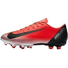 reputable site cebd6 31d53 Nike Unisex-Kinder Vapor 12 Academy Gs CR7 MG Fußballschuhe, Rot (Bright  Crimson