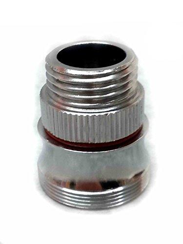 1/2 Zoll AG x M28 AG, Gewindeadapter, verchromtes Edelmessing, inklusive Dichtung, z.B. zum Anschluß eines Brauseschlauchs an die Badewannenarmataur