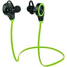 Auricolari Bluetooth, Duhud Sweatproof in-ear cuffie stereo wireless Bluetooth 4.0auricolari per allenamento corsa escursioni microfono integrato lavoro dispositivi Bluetooth, Green