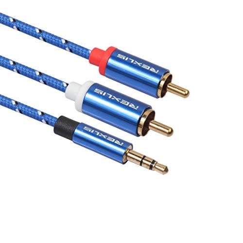 Gebraucht, Colorful Cinch Kabel, 3.5mm Klinke auf 2 Cinch Y Splitter gebraucht kaufen  Wird an jeden Ort in Deutschland