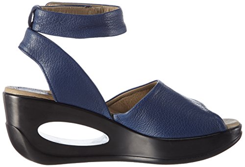 FLY London Hert633fly, Sandales  Bout ouvert femme Bleu - Blau (BLUE 001)