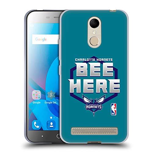 Head Case Designs Offizielle NBA Hornets Buzz City 2018/19 Team Slogan Soft Gel Huelle kompatibel mit ZTE Blade A602 -