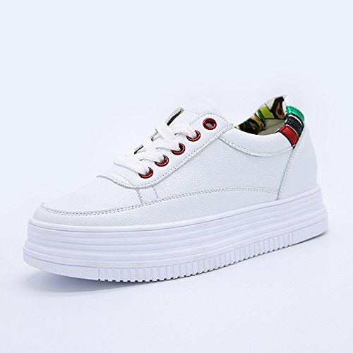 HAIZHEN Dames Filles Bottillons Chaussures de sport pour femme Comfort Spring Fall Chaussures de marche Plateforme décontractée en dentelle extérieure pour les 18-40 ans Pour les 18-40 ans