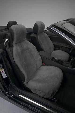 Genuine Australian Sheepskin Sideless Seat Cover - Gray by Eurow