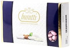 Idea Regalo - Buratti Confetti alla Mandorla Intera Rosa - 1000 g