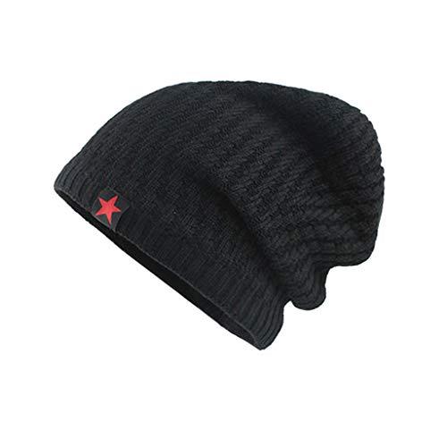 Saingace(TM) Slouch Beanie Mütze Winter Strickmützen | Dicke Weiche Stretch Warme Wintermütze Long Beanie für Herren und Damen Stretch Winter Cap
