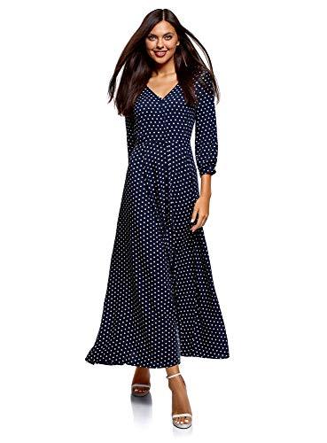 oodji Damen Maxi-Kleid mit Knöpfen Muster - 26,80 €