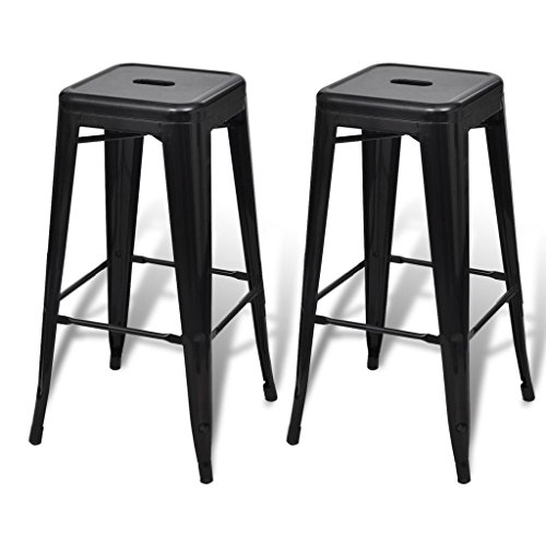vidaXL Tabouret de bar 2 pcs Tabouret haut Lot de 2 Chaises de bar Repose- a4e860304bd6