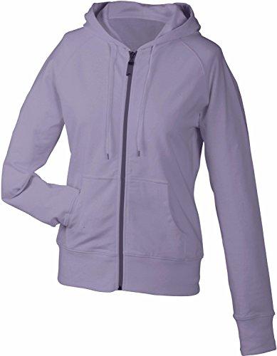 James & Nicholson Damen Sweatshirt Hooded, Rot (lilac), XL, JN554 lil Hooded Terry Pullover