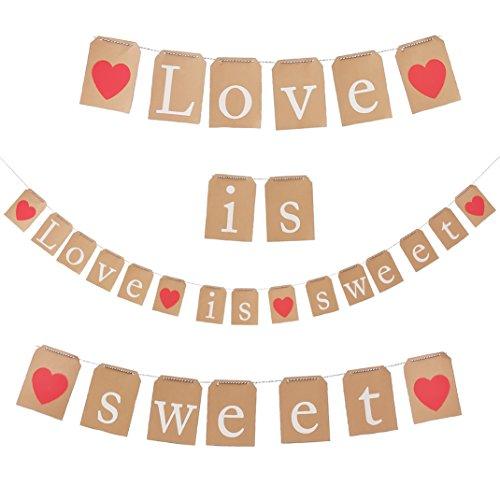 e is Sweet Girlande für Hochzeit Party Dekoration Junggesellinnenabschied Liebe ()