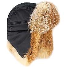 Hombre zorro rojo gorro sombrero de aviador Invierno Gorro usch Anka Gorro  de esquí polar Gorro a8f1e1de07b