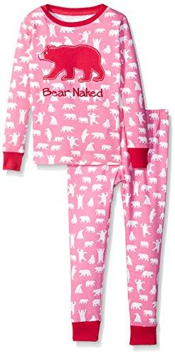 Hatley Mädchen Long Sleeve Printed Pyjama Sets Zweiteiliger Schlafanzug, Pink (Fuchsia Bears 650), 6 Jahre -