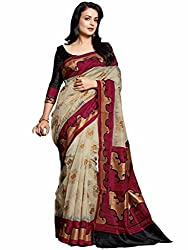 Glory Sarees Women's Silk Saree (kalapi23_Beige)
