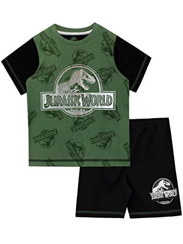 Jurassic World Jungen Dinosaurier Schlafanzug Schwarz 140 (Junge Aus Jurassic Park)