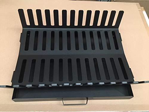 feuerrost fuer grillkamin Sunday Feuerrost mit Aschekasten, 46 x 32 x 14 cm, schwarz