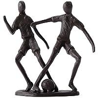 "DEKO FIGUR ""FUSSBALL"" | Eisen, brüniert, 14 cm | Fussballspieler, Fussballer Skulptur"