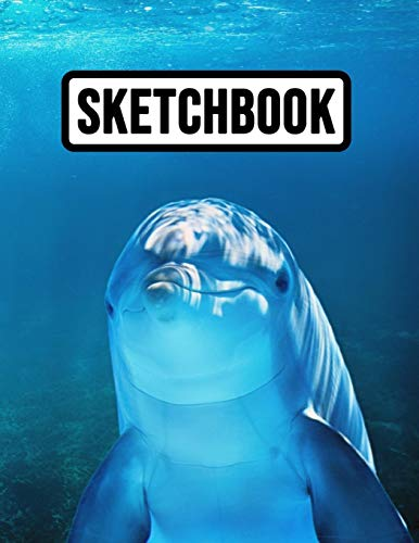 Sketchbook: Cute Extra Large for Business, School And Daily Use, Dolphin Lover Gifts -