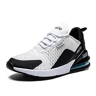 Turnschuhe Herren Laufschuhe Damen Sportschuhe Fitness Straßenlaufschuhe Sneaker für Running Outdoor(Schwarz Weiss,Größe 42)