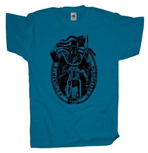 Ma2ca - Biker Motorrad Rocker - T-Shirt Azure