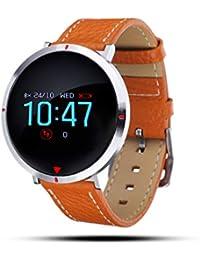 Smartwatch mit Pulsmesser, GOKOO Fitness Armband Wasserdicht IP67 Fitness Tracker Aktivitätstracker Pulsuhren mit 4 Trainingsmodi Kalorienzähler Schlafmonitor für Damen Herren für IOS Android (Braun)