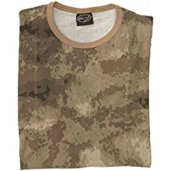 TEE SHIRT CAMO CAMOUFLAGE MIL-TACS FG COL ROND ET MANCHES COURTES MILTEC 11010059-M AIRSOFT