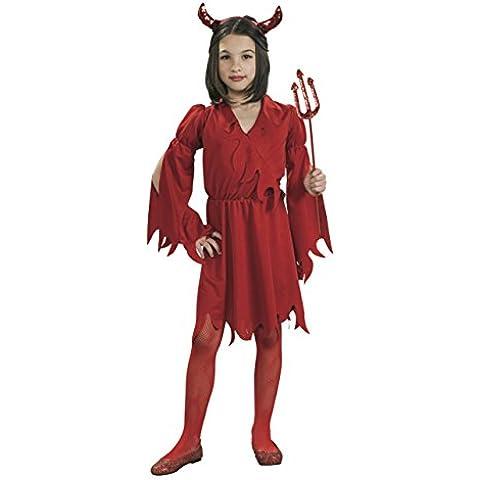 Rubies Deutschland 2 881953 L - Disfraz de demonio para niña, talla L