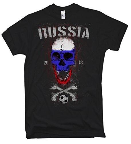 NG articlezz Camiseta de Hombre – Rusia Calavera Fútbol – WM 2018 Rusia Fútbol Calavera Talla s-5xl 1lSWu