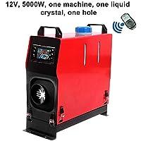 flower205 5000W 12 / 24V Unidad de Cristal líquido de un Orificio/Cuatro Orificios, estacionamiento, Combustible, Calentador de Aire, Ventilador de Combustible Rojo