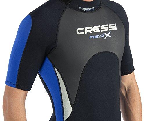 Cressi Herren Med X Shorty Neoprenanzug 2.5 mm Schwarz/Weiß//Schwarz