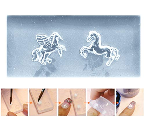 d Magic Pegasus Tier-3D Mini-Silikon-Form Für Nail-Art-Kleine Diy-Resin-Form FIMO Miniatur-Feen-Garten ()