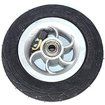 Rueda inflable de 5 pulgadas que usa el eje metálico 5 X 1 neumático con el