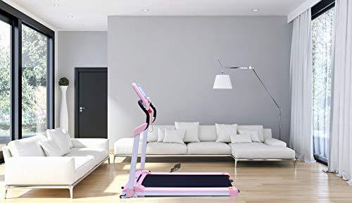 LONTEK Laufband Elektrisches Klappbarer Fitnessgerät Heimtrainer verstaubar kompakt mit LCD-Display MP3 Bluetooth elektronischer HighTech Motor klappbare Lauffläche