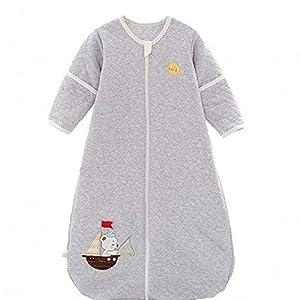 schlabigu Saco de Dormir para bebé, para Todo el año, de algodón, para niños y niñas, con Forro Interior – Barco. Gris…