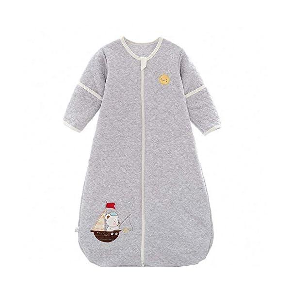 Saco de dormir para bebé, para todo el año, de algodón, para niños y niñas, con forro interior – Barco. Color azul marino. Talla:130CM/3-6Jahre