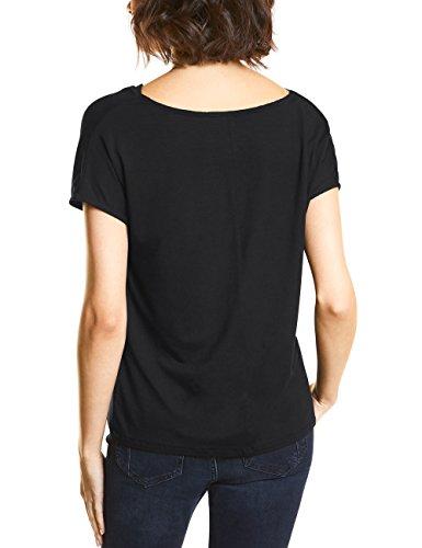 Street One Damen T-Shirt Schwarz (Black 10001)