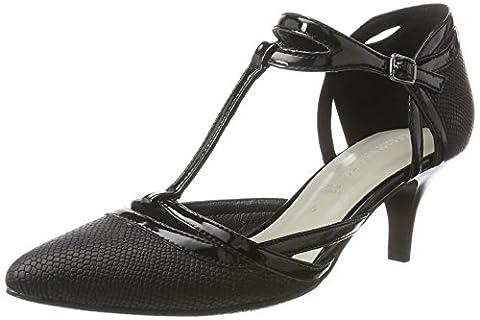 Gerry Weber Shoes Damen Linette 09 Tstrap Sandalen , Schwarz (Schwarz), 39 EU (6 UK)