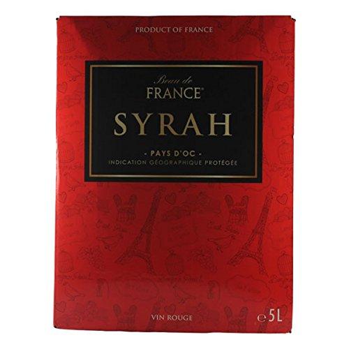 Rotwein Frankreich Bag in Box Syrah 5,0 Liter - VERSANDKOSTENFREI -