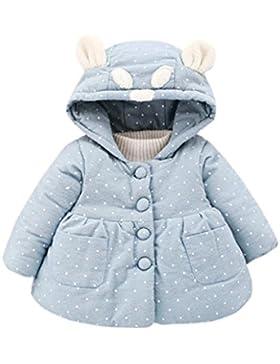 Lylita Bambino ragazze bebè autunno inverno cappuccio cappotto giacca mantello spessa abiti caldi