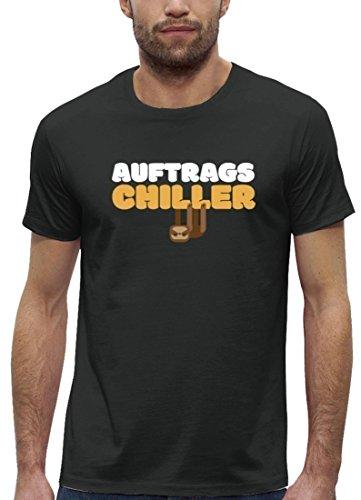 Faultier Premium Herren T-Shirt aus Bio Baumwolle Auftrags-Chiller Stanley Stella Anthrazite