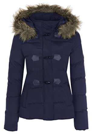 Hooded Toggle Coat/ Navy 16- Ljk Hartley- (2.99)