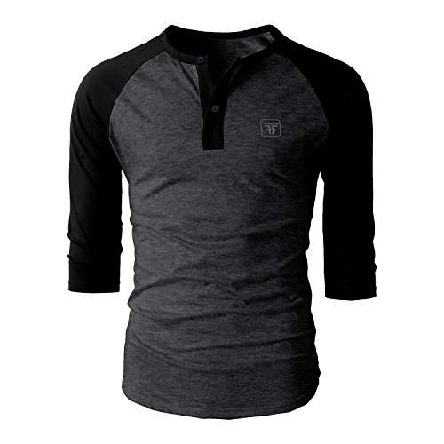 Fashion Freak Full Sleeves T Shirt For Men Stylish Raglan Henley Style...