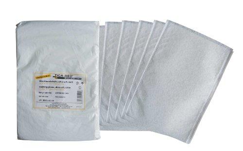 Waschhandschuhe Einmal- Einweg- ultrasoft Molton Waschlappen weiss Original Tiga-Med Qualität, 100 Stück -