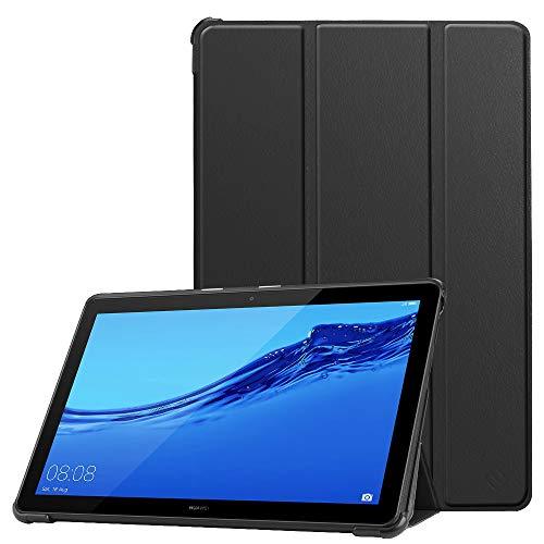 Fintie Hülle Case für Huawei MediaPad T5 10 - Ultra Dünn Superleicht Flip Schutzhülle mit Zwei Einstellbarem Standfunktion für Huawei MediaPad T5 10 10.1 Zoll 2018 Tablet PC, Schwarz