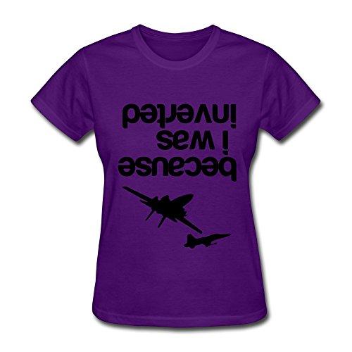 h war seitenverkehrt T-Shirt Gr. X-Small, Violett ()