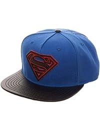 DC Comics Superman Logo Carbon Fiber Snapback Baseball Cap