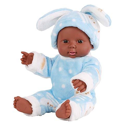 Kbsin212 Muñeca Reborn Bebé, Muñeca Negra, Muñeca de Simulación, Silicona Realista, Hecha a Mano, Muñeca de bebé afroamericana, Ropa se Puede Llevar