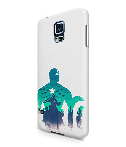 Captain America The Avenger Shield Marvel Superhero Plastic Snap-On Case Cover Shell For Samsung Galaxy S5